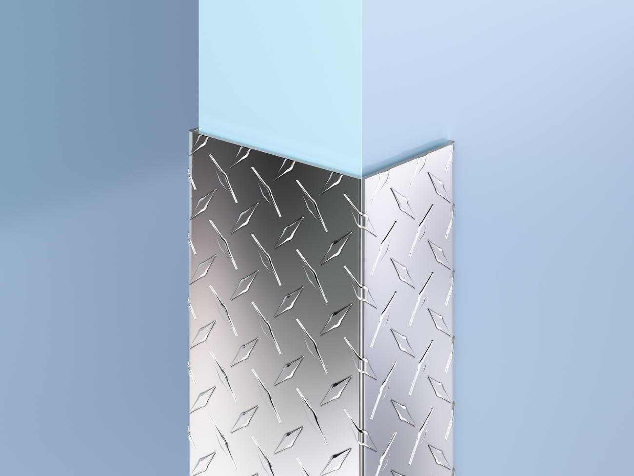 Aluminum Diamond Plate End Wall Guards