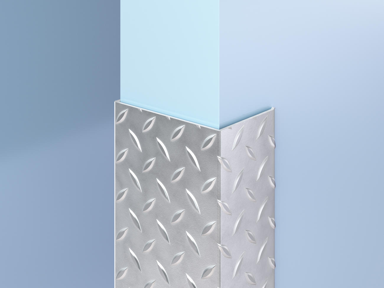 Stainless Steel Diamond Plate End Wall Guards