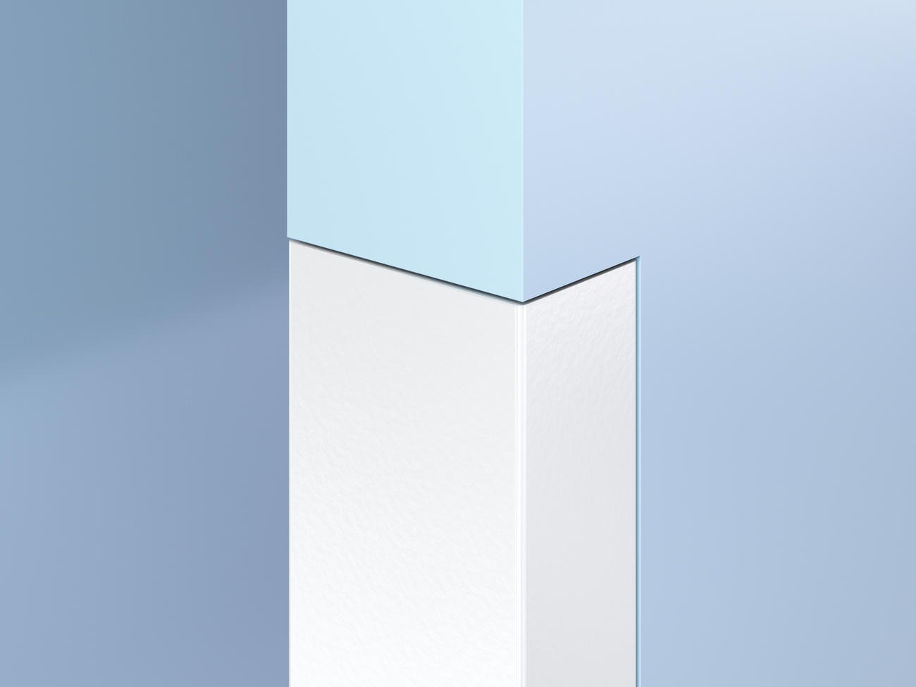 Flush-Mount Antimicrobial End Wall Guards