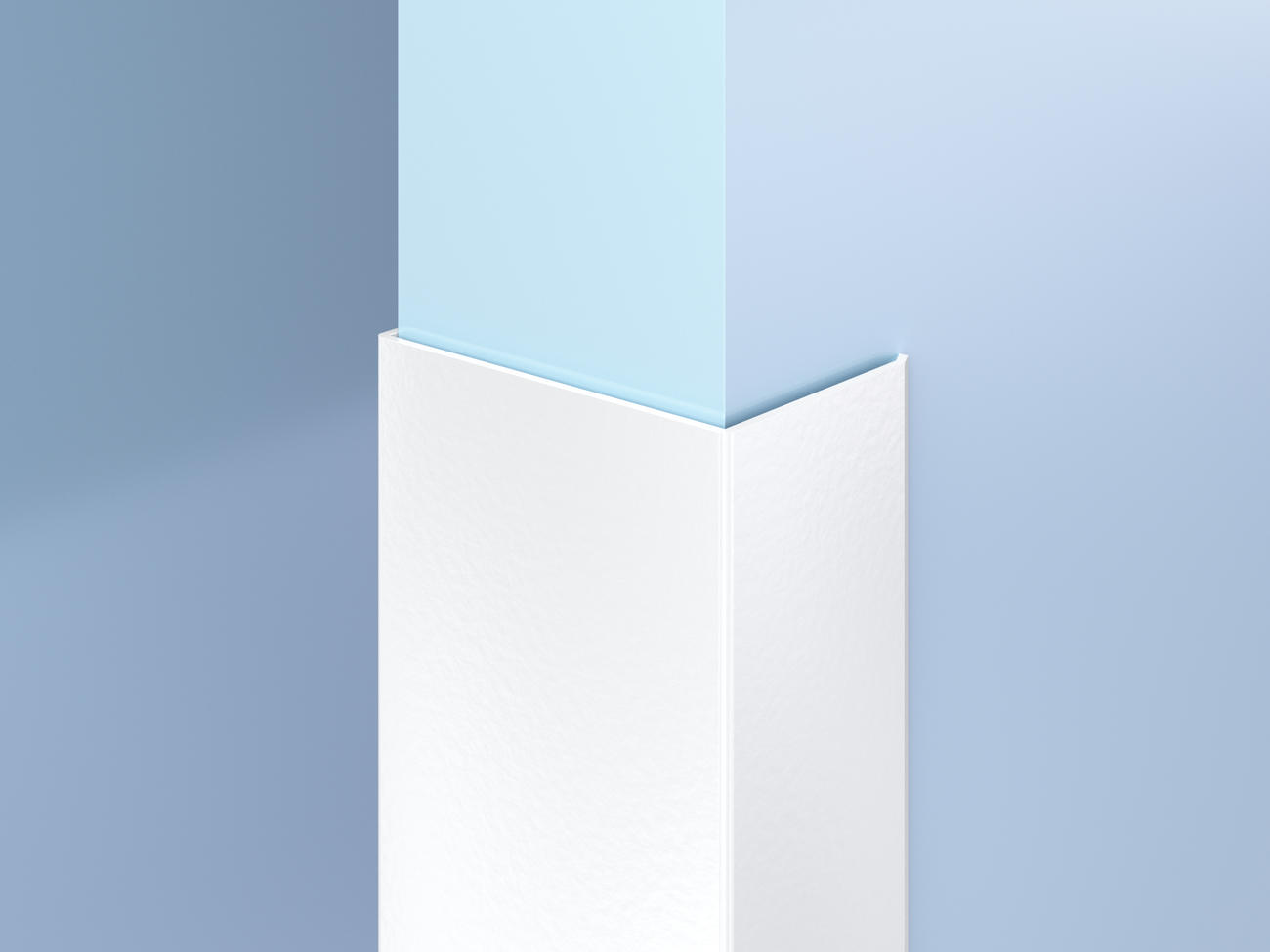 Surface-Mount Antimicrobial End Wall Guards