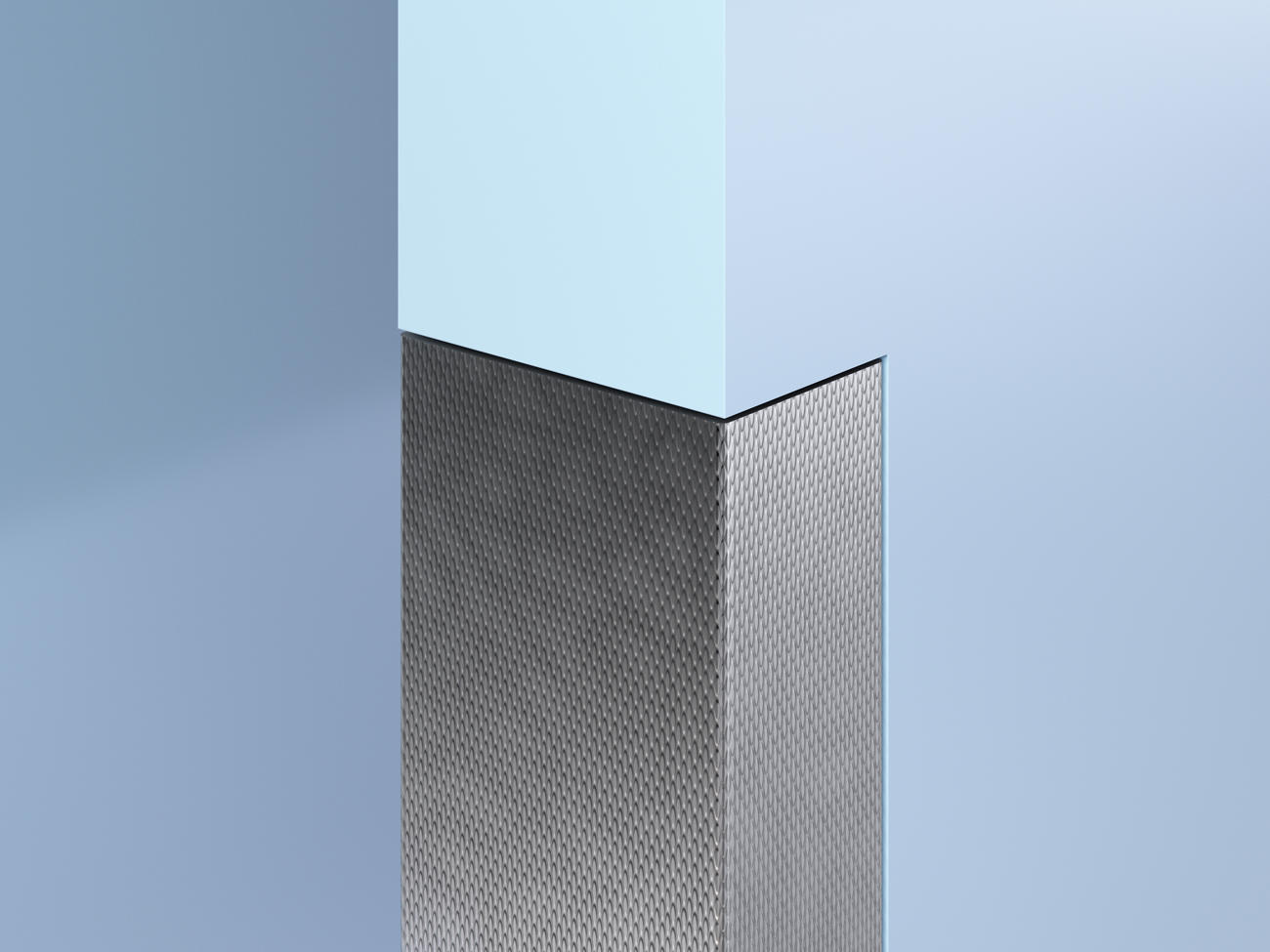 Flush-Mount Patterned SS End Wall Guards