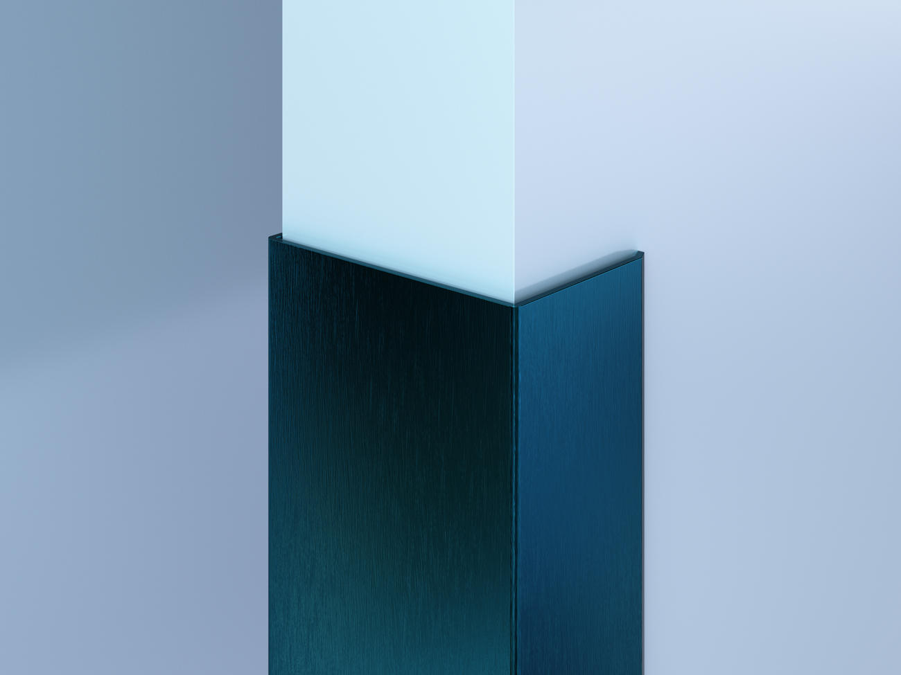 Surface-Mount Colored SS End Wall Guards