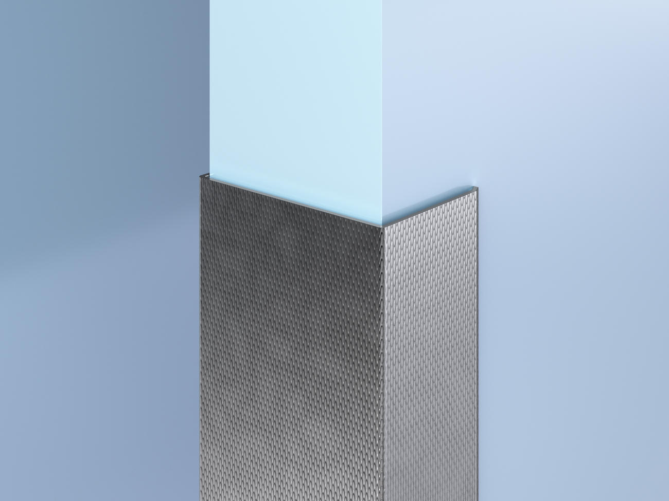 Surface-Mount Patterned SS End Wall Guards