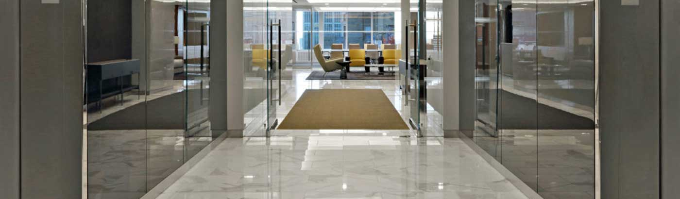 Mirror and color stainless Steel lobbies