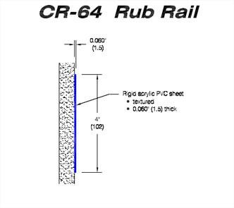 RIGID VINYL RUB RAIL CR-64