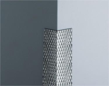 PATTERNED STAINLESS STEEL CORNER GUARD CGP-50
