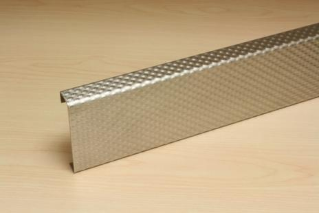 PATTERNED STAINLESS STEEL CRASH RAIL CRSP-8SS