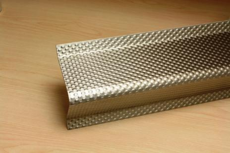 PATTERNED STAINLESS STEEL CRASH RAIL BCRP-4SS