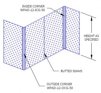 Wpad 12 Aluminum Diamond Plate Wall System By Protek