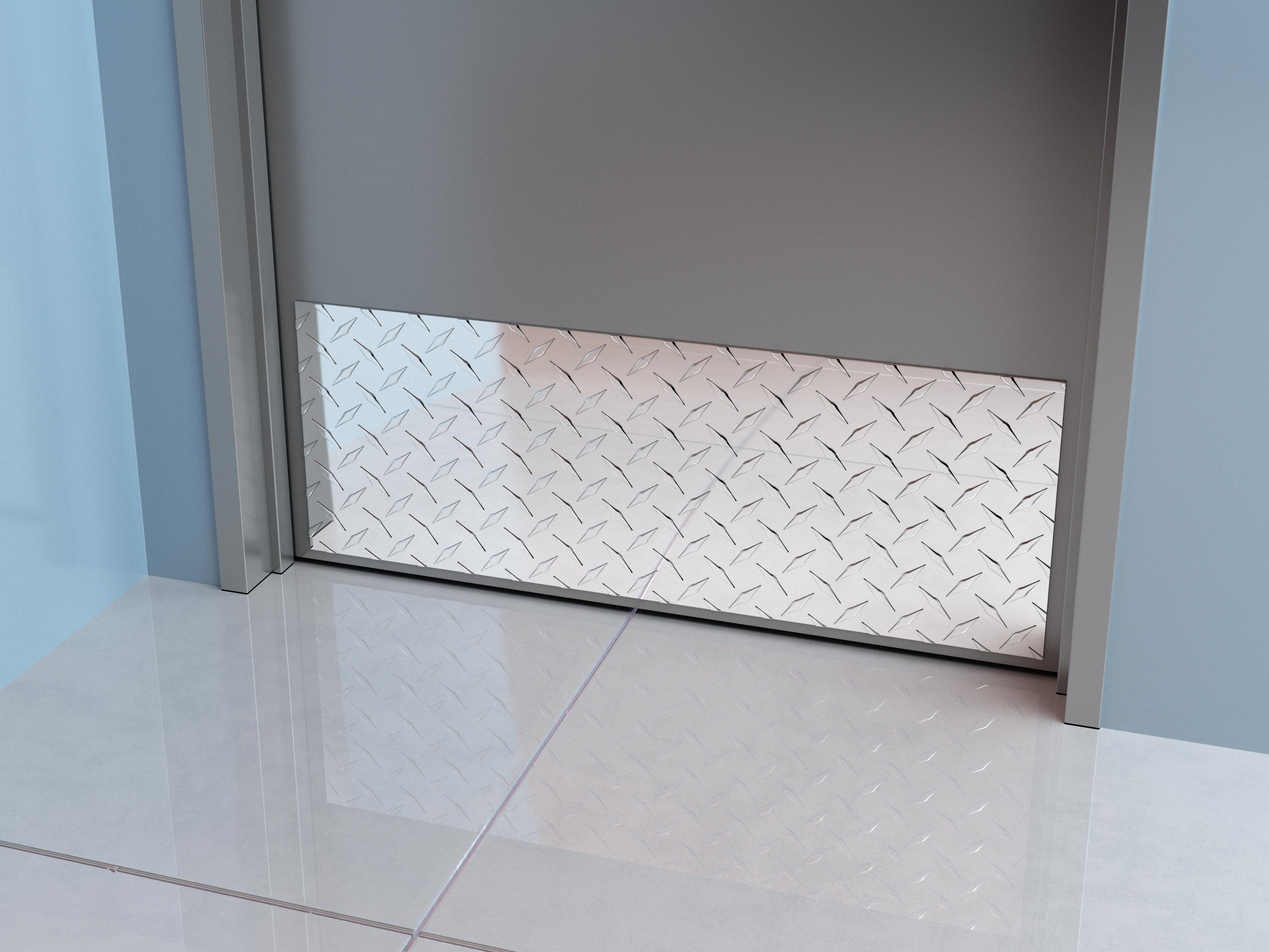 Diamond Plate Door and Frame Protection