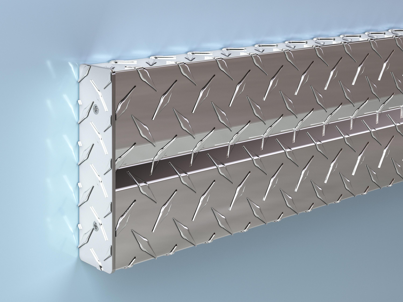 Alum. Diamond Plate Crash Rail