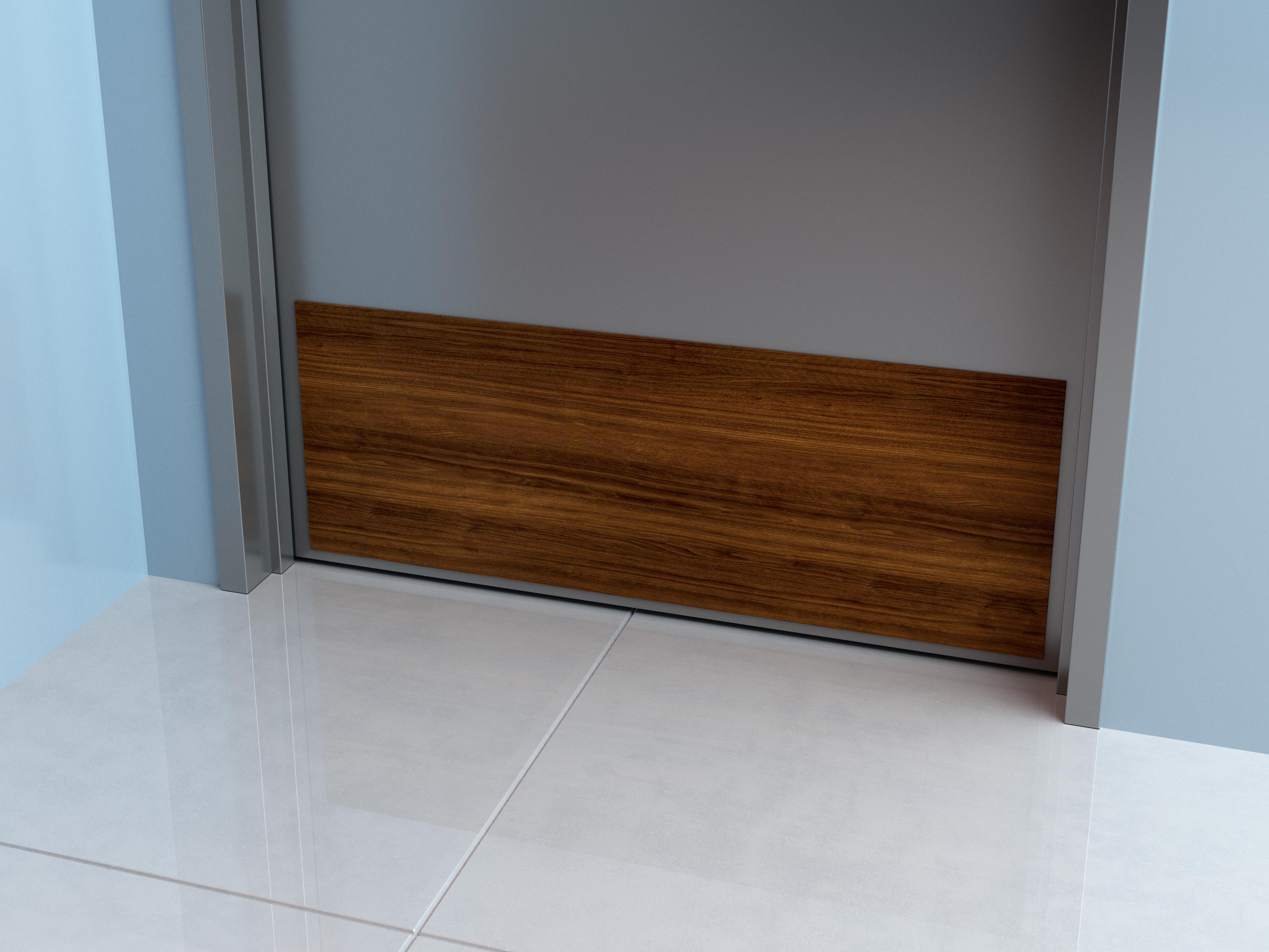 Wood Grain Door and Frame Protection