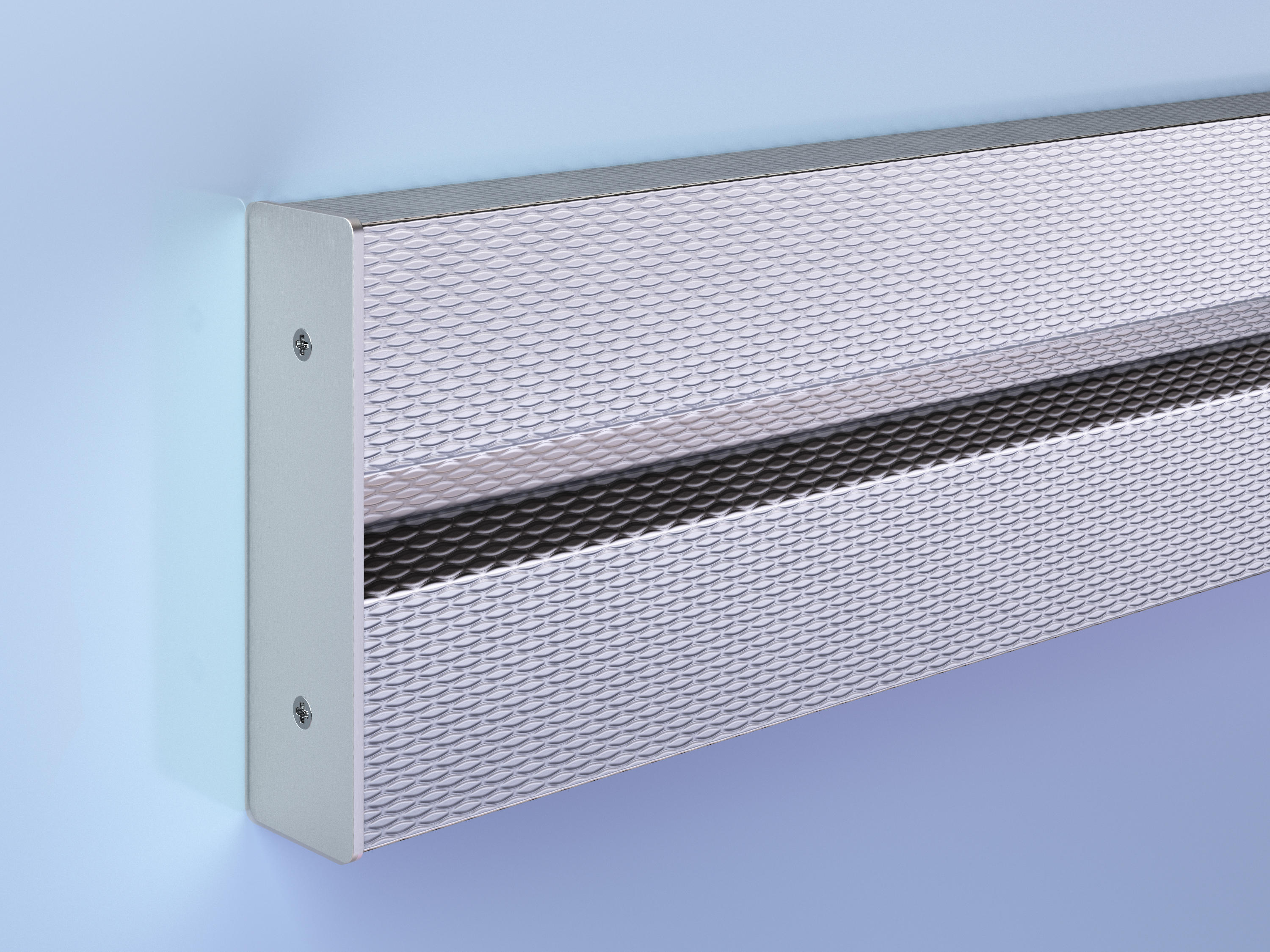 Patterned Stainless Steel Crash Rail