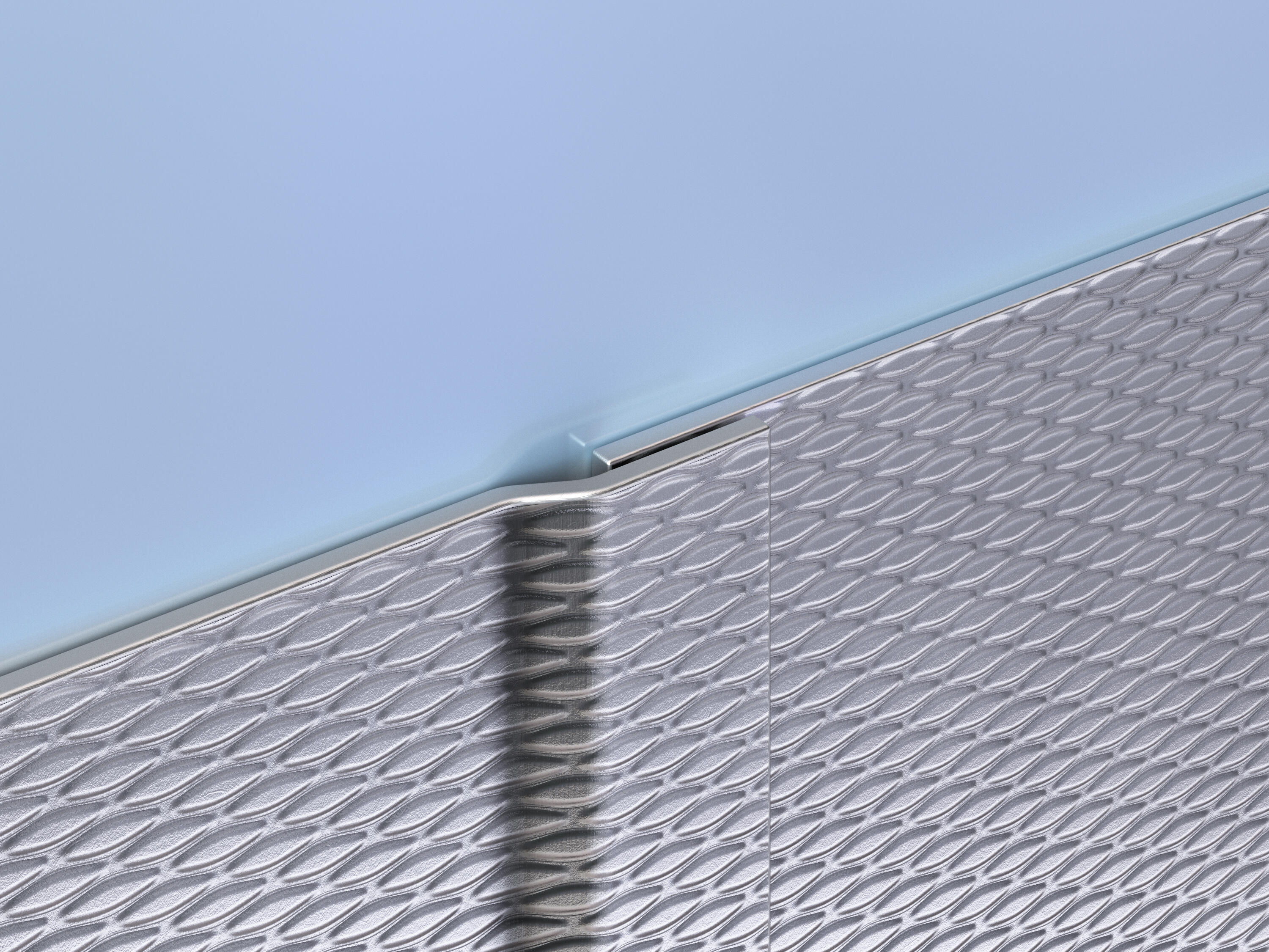 Patterned Stainless Steel Wall Protection
